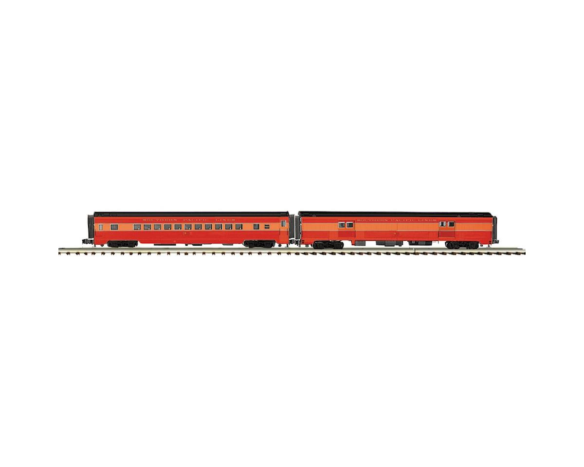 MTH Trains O 70' Ribbed Baggage/Coach, SP Lines
