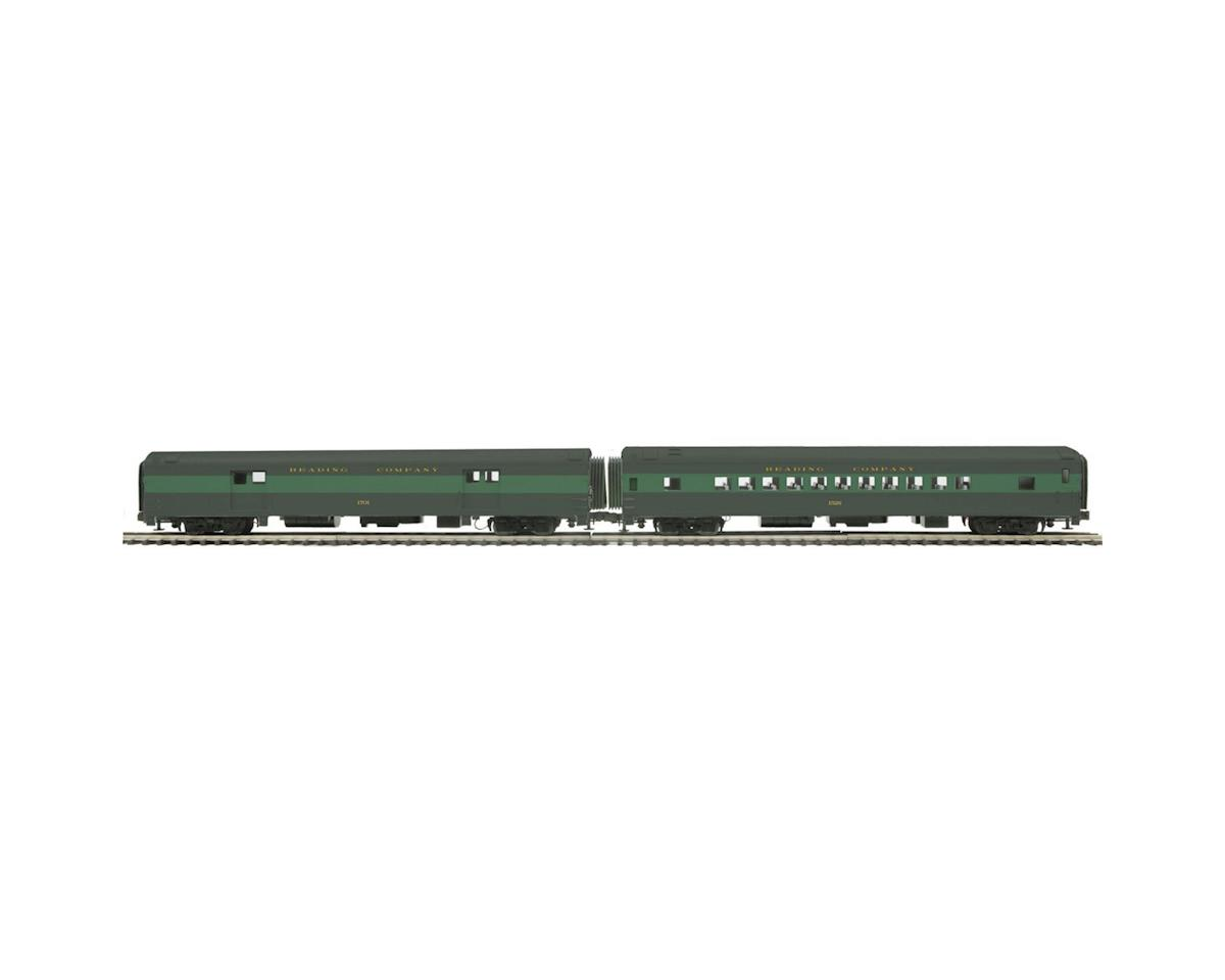 MTH Trains O 70' Streamline Smooth Baggage/Coach, RDG