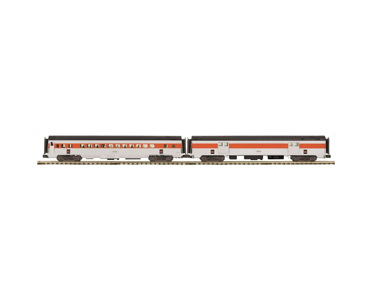 MTH Trains O 70' Streamline Ribbed Baggage/Coach, NH
