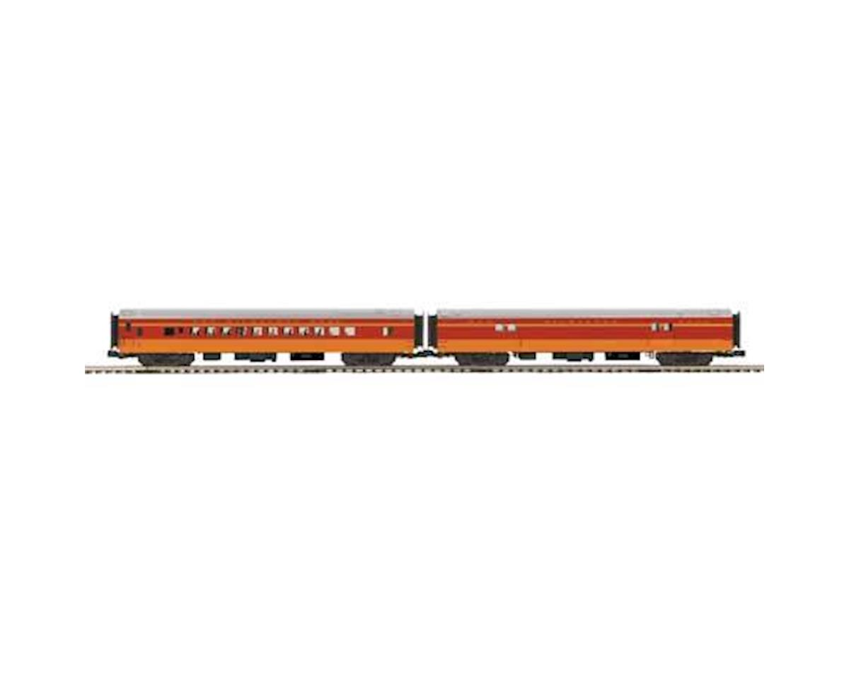 MTH Trains O 70' Streamline Smooth  Baggage/Coach, MILW