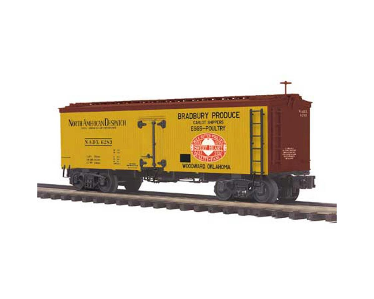 MTH Trains O 36' Wood Reefer, Bradbury Produce