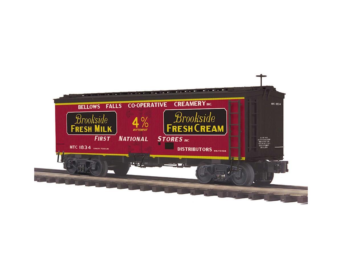 MTH Trains O 36' Wood Reefer, Brookside Fresh Milk #1834