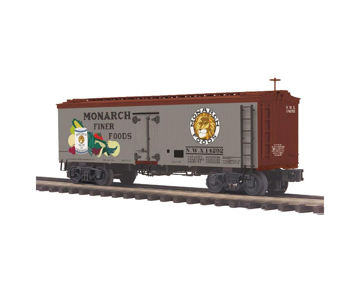 MTH Trains O 36' Wood Reefer, Monarch Foods #14292