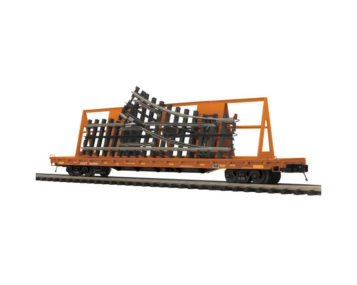 MTH Trains O 60' Flat w/ScaleTrax O-31 Switch, CSX
