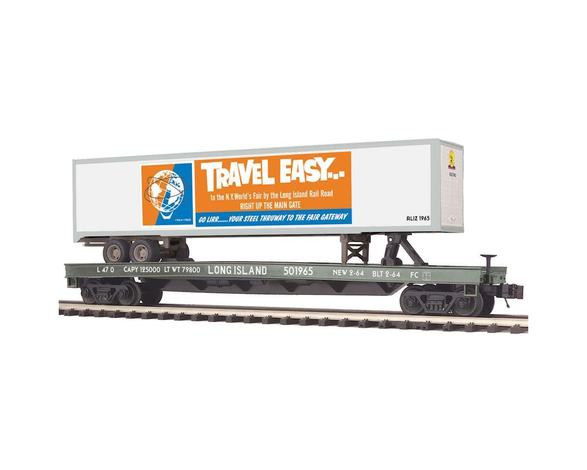 MTH Trains O Flat w/48' Trailer, LIRR