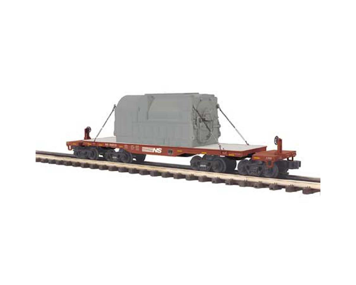 MTH Trains O 47' TTX Heavy Duty Flat w/Transformer, NS