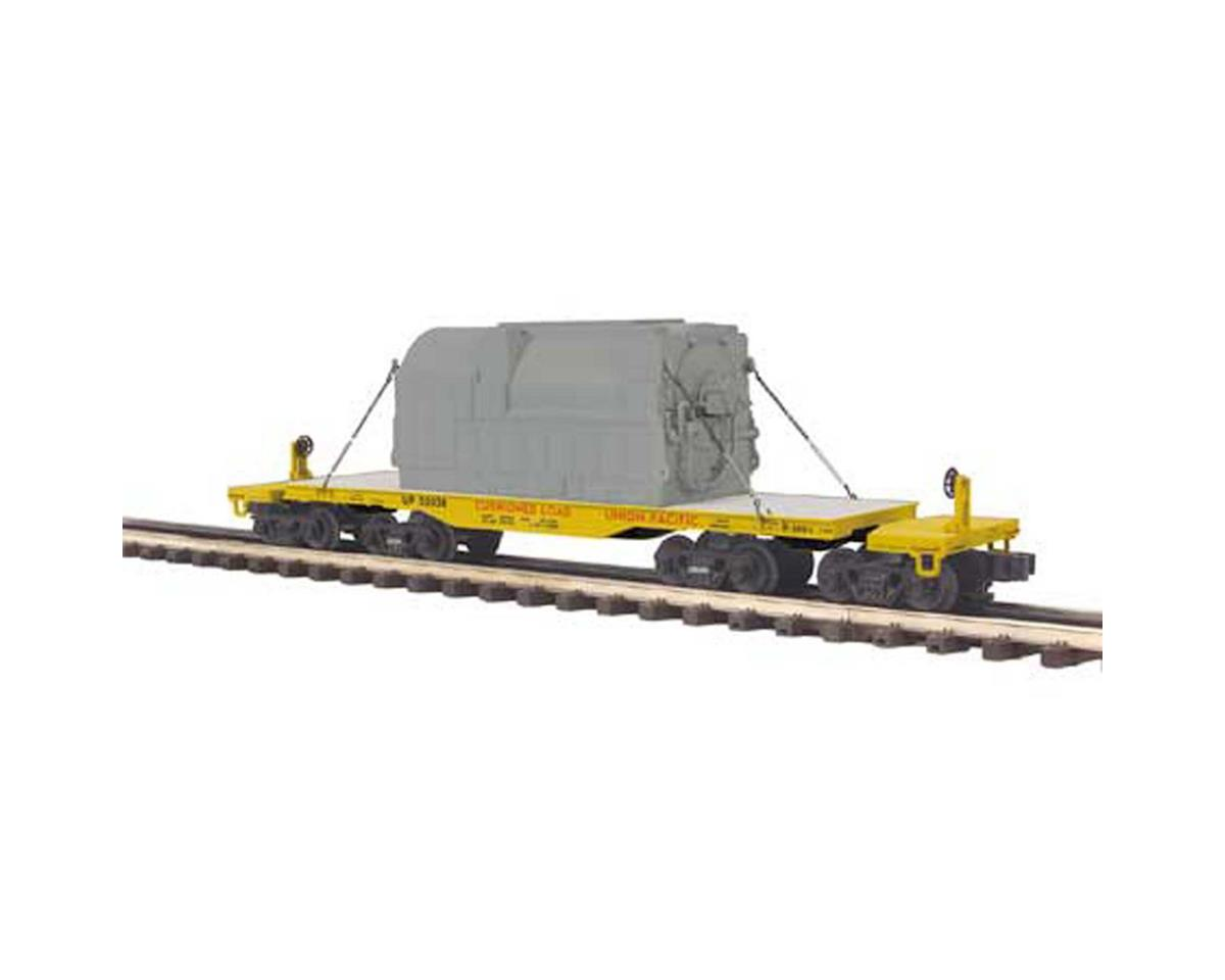 MTH Trains O 47' TTX Heavy Duty Flat w/Transformer, UP