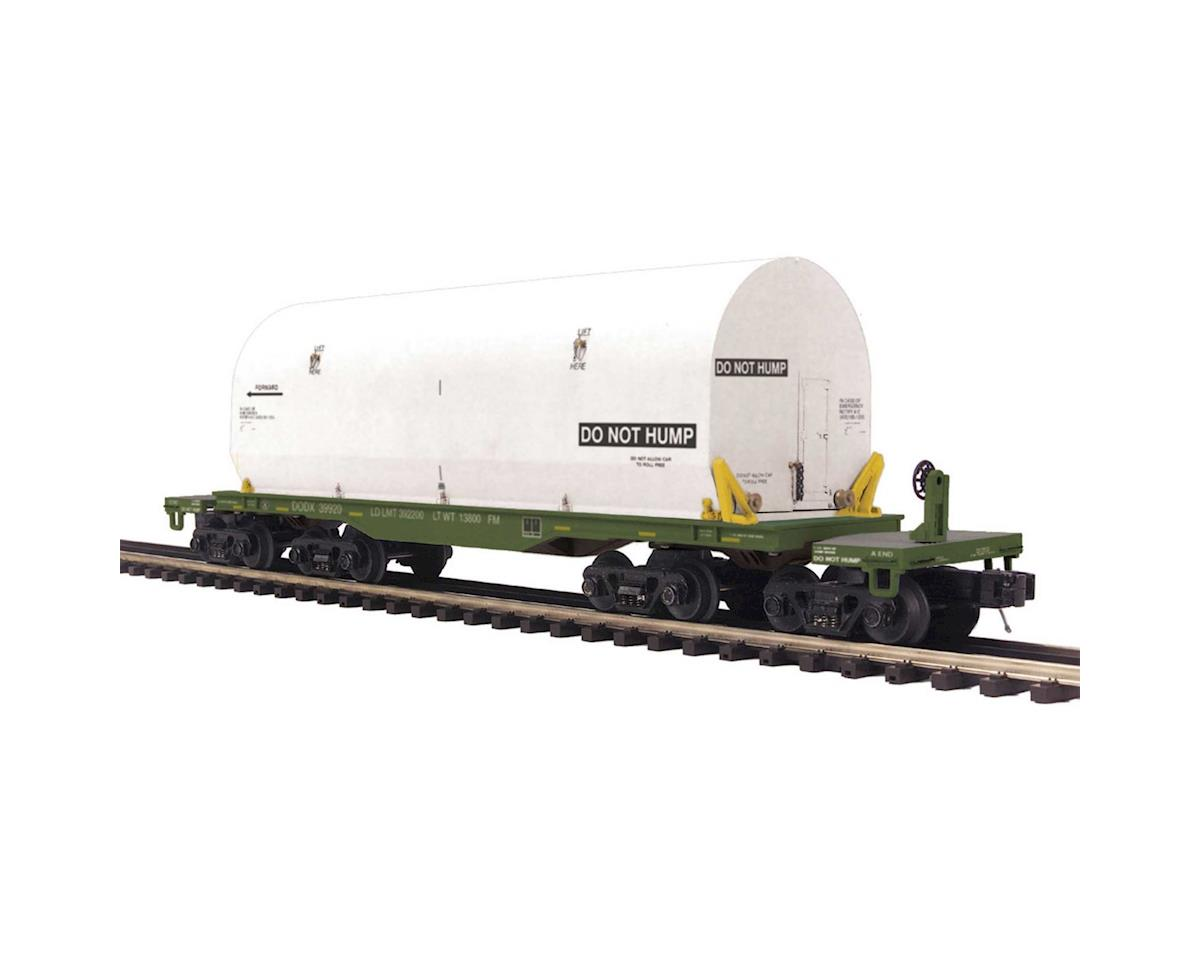 O 47' TTX Heavy Duty Flat w/Cover, USARM by MTH Trains