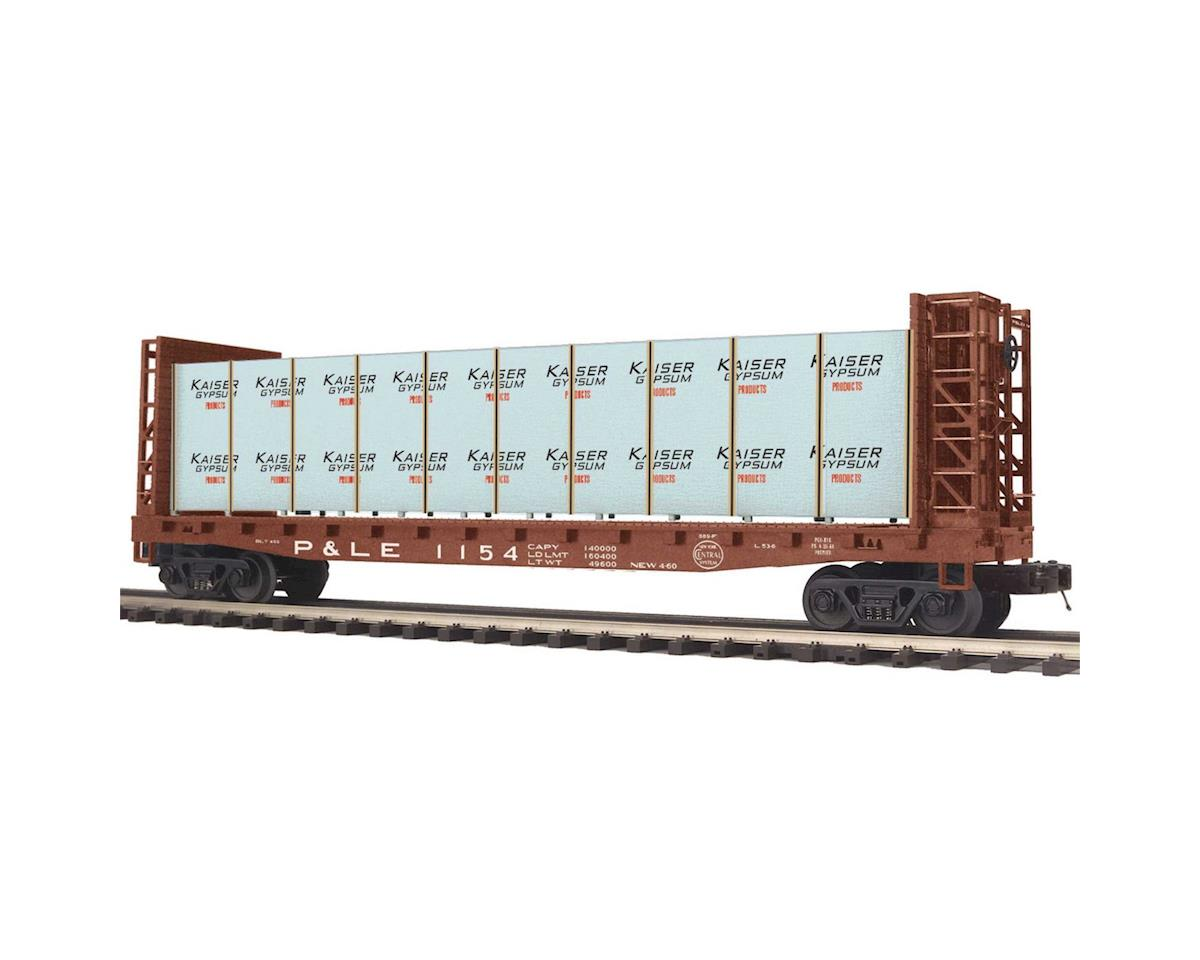 MTH Trains O Bulkhead Flat w/Covered Wood Load, P&LE