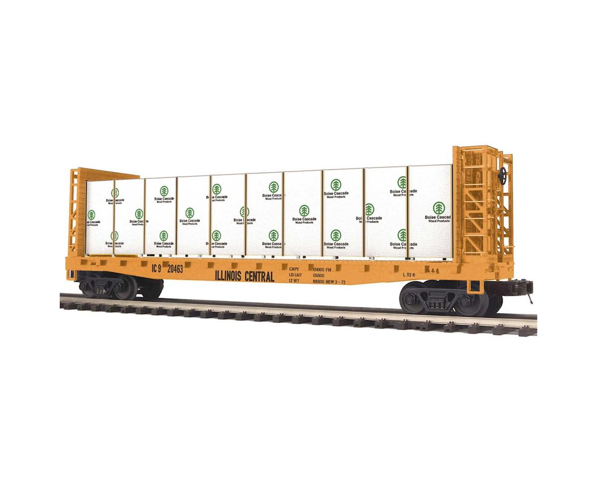 MTH Trains O Bulkhead Flat w/Covered Wood Load, IC