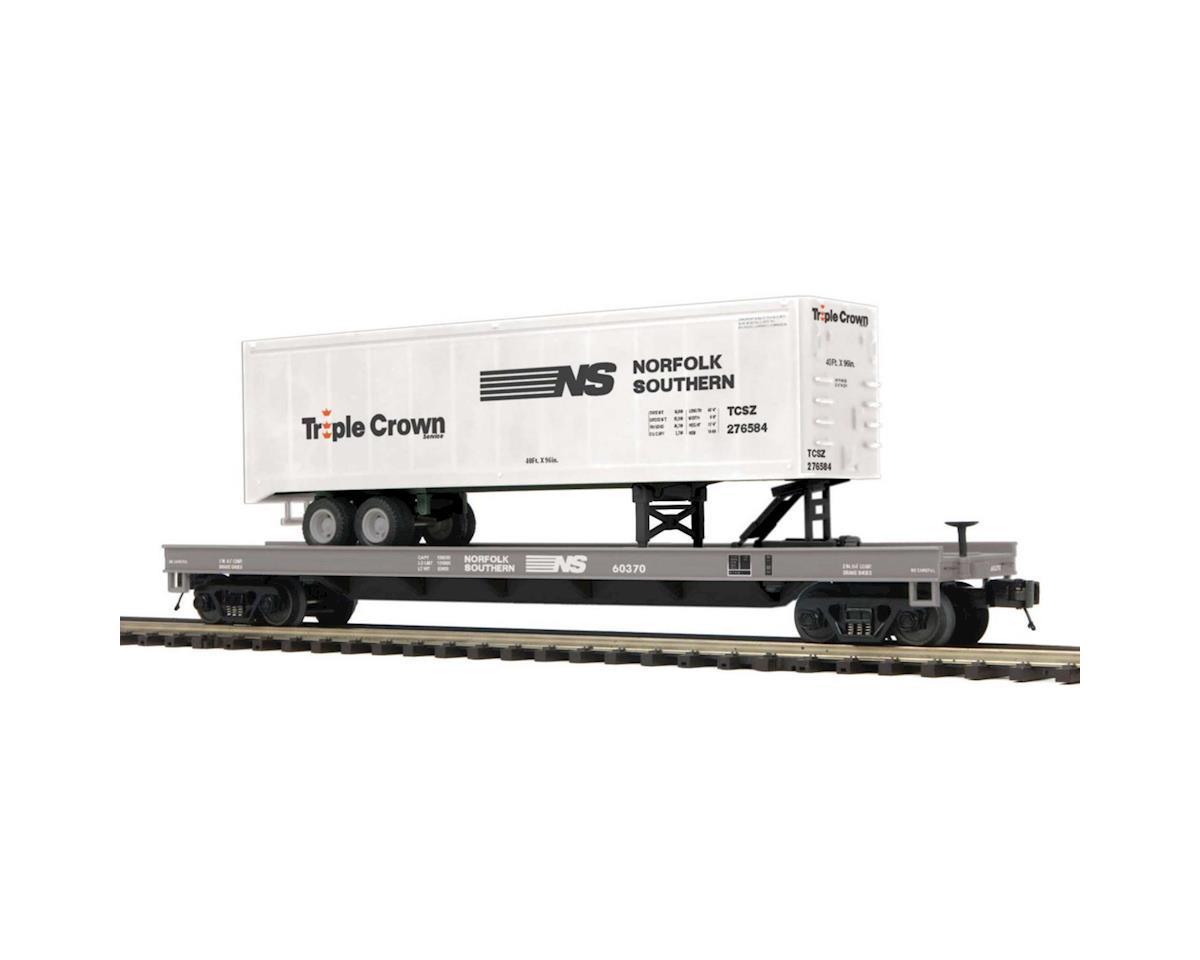 MTH Trains O Flat w/40' Trailer, NS