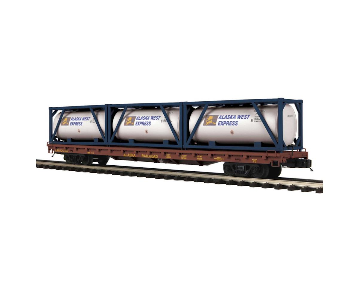 MTH Trains O 60' Flat w/3 Tank Containers, ARR