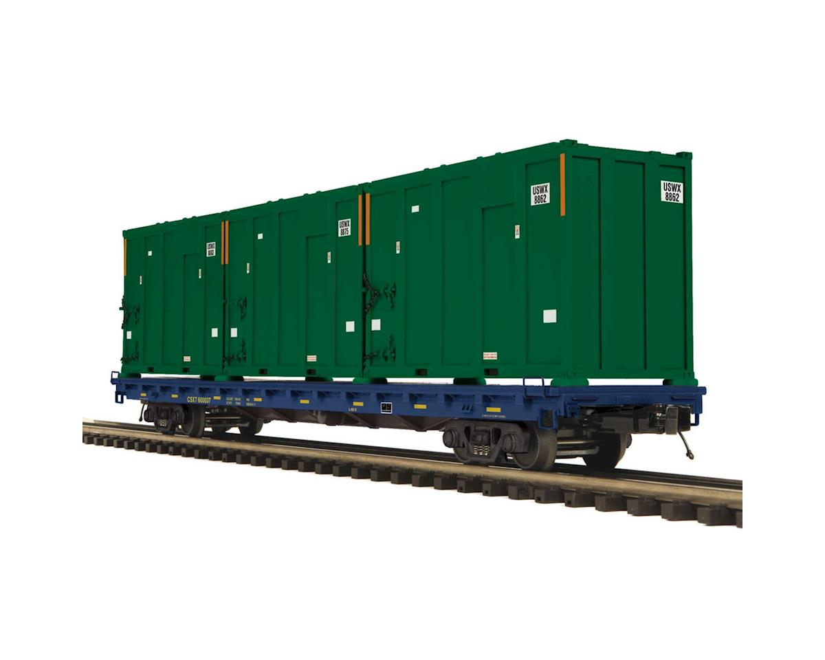 MTH Trains O 60' Flat w/Trash Containers, CSX