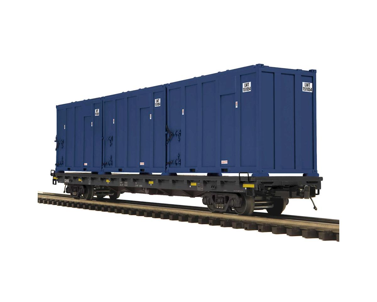MTH Trains O 60' Flat w/Trash Container,General American Mark