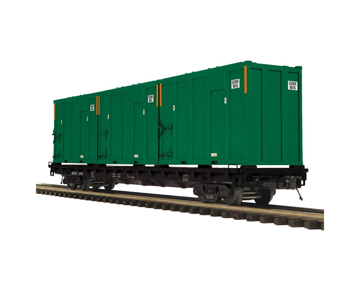 MTH Trains O 60' Flat w/Trash Container,Joseph Transportation