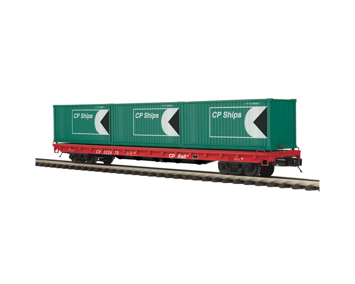 MTH Trains O 60' Flat w/3 20' Containers, CPR