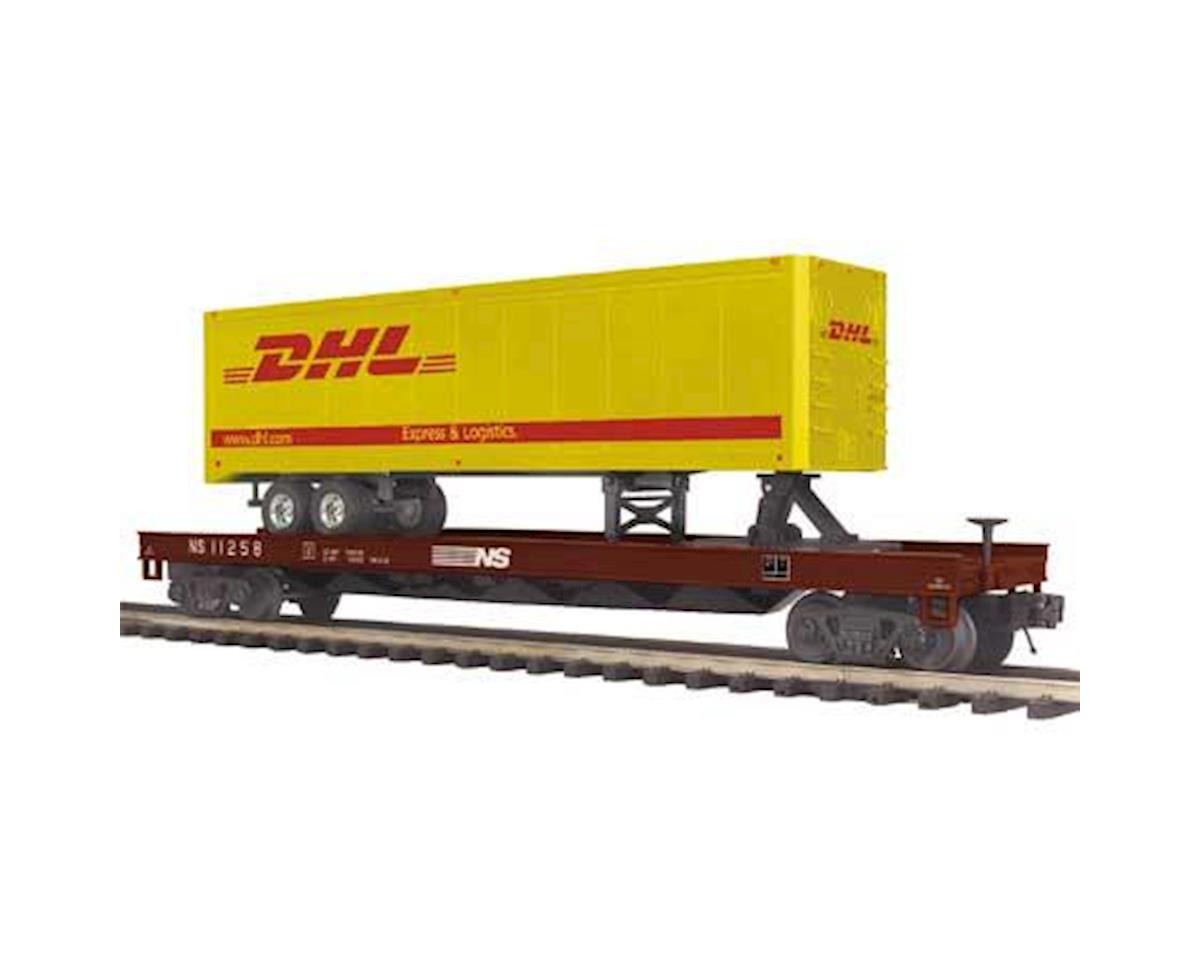 MTH Trains O Flat w/40' Trailer, NS #11258