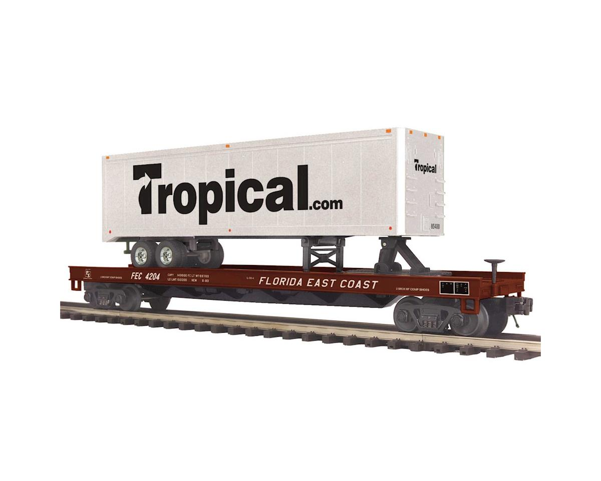 MTH Trains O Flat w/40' Trailer, FEC #4204
