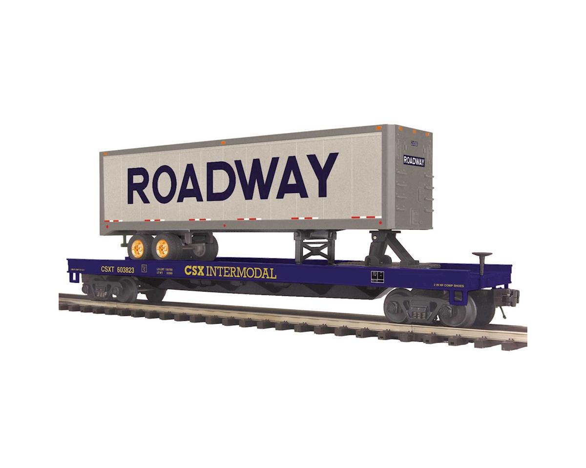 MTH Trains O Flat w/40' Trailer, CSX #603823