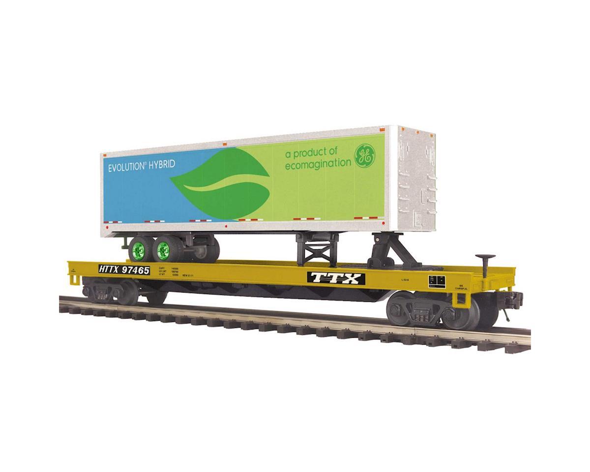MTH Trains O Flat w/40' Trailer, TTX #97465