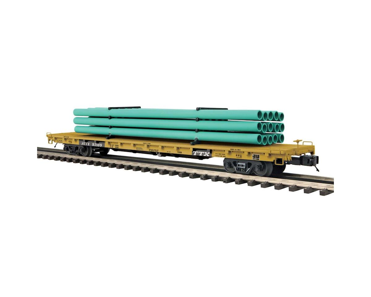 MTH Trains O 60' Flat w/Pipe Load, TTX #93189