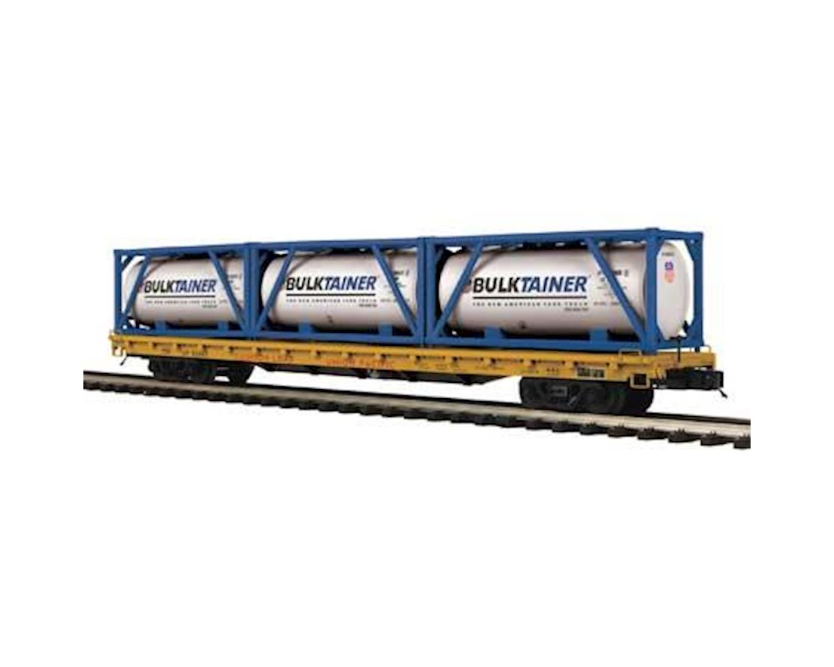 MTH Trains O 60' Flat w/3 Tank Containers, UP #52065