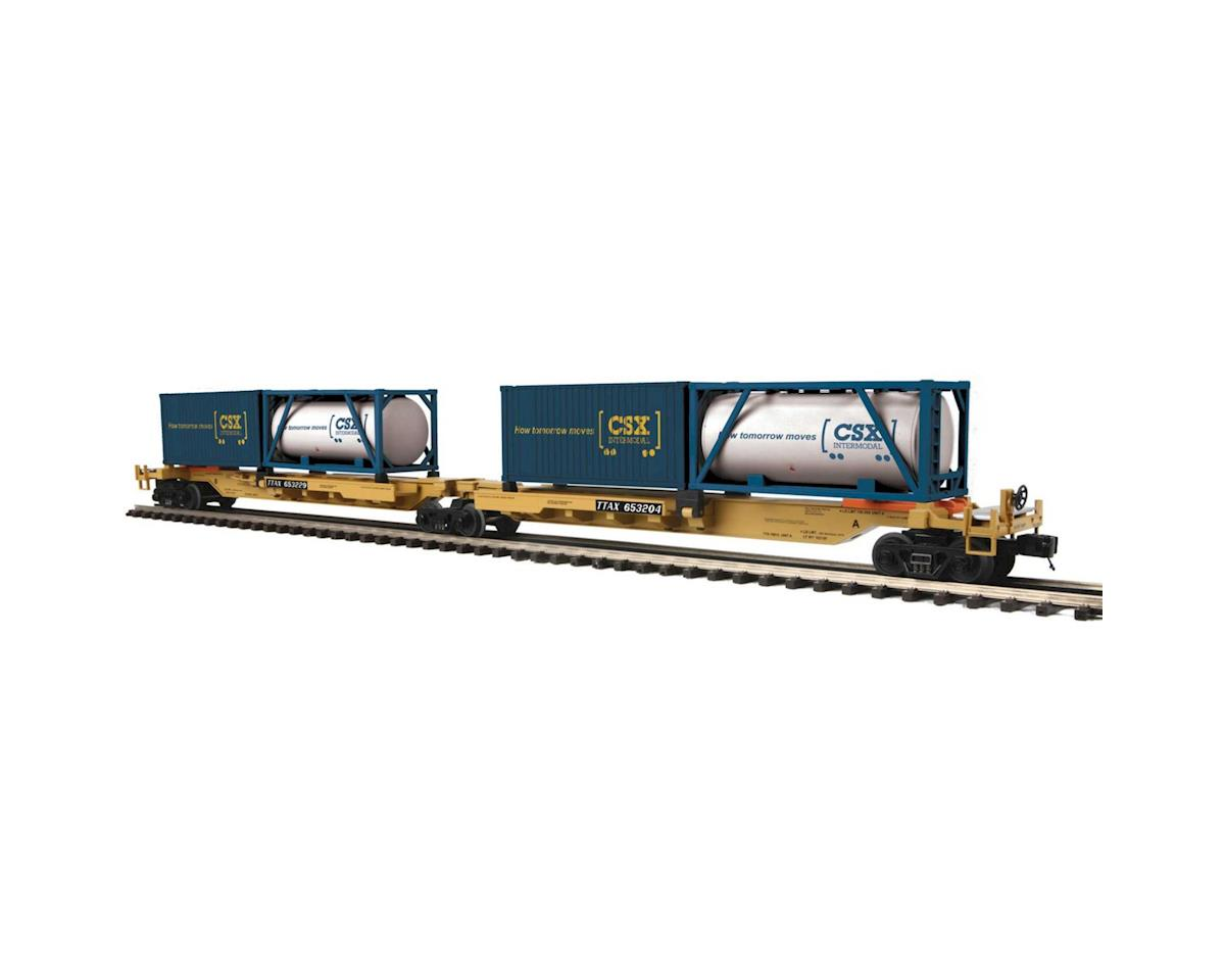 MTH Trains O Spine Car w/2 Containers, TTX #653204 (2)