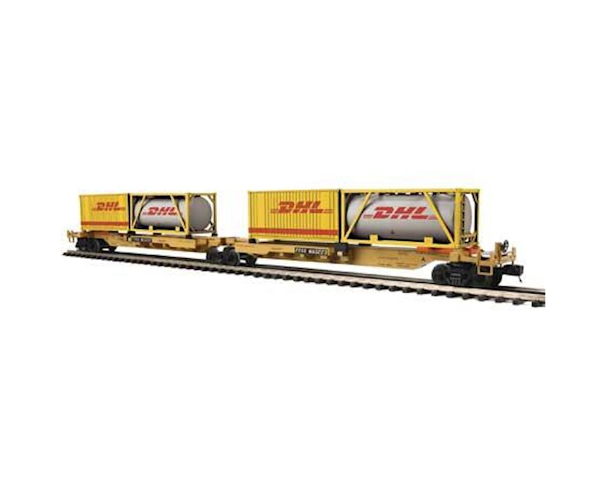 MTH Trains O Spine Car w/2 Containers, TTX #653223 (2)