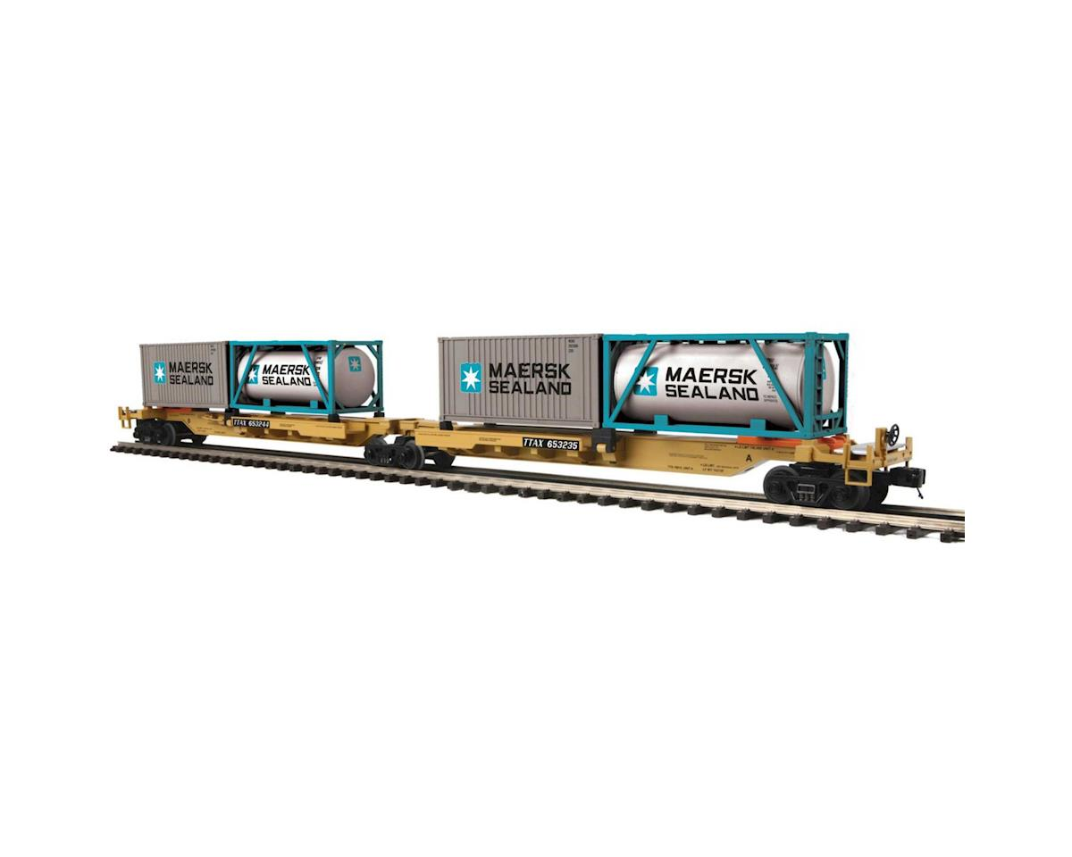 MTH Trains O Spine Car w/2 Containers, TTX #65235 (2)