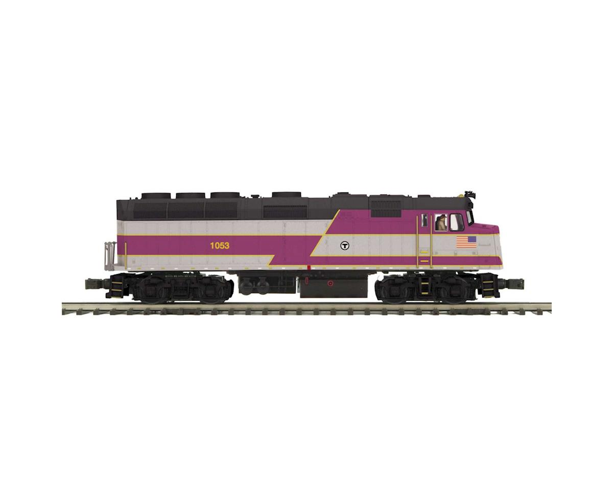 MTH Trains O Scale F40PH w/PS3, MBTA #1053