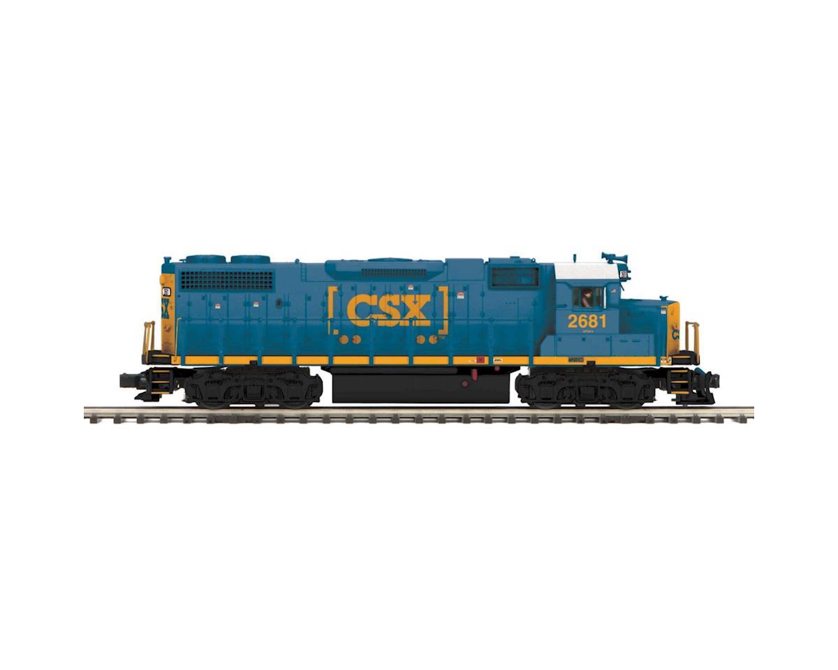 MTH Trains O Scale GP38-2 w/PS3, CSX #2681