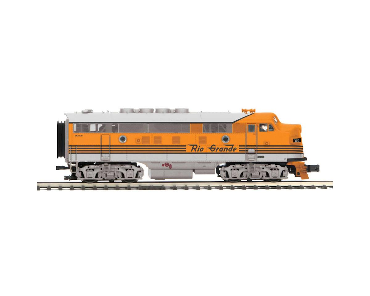 MTH Trains O Scale F3A w/PS3, D&RGW #5521