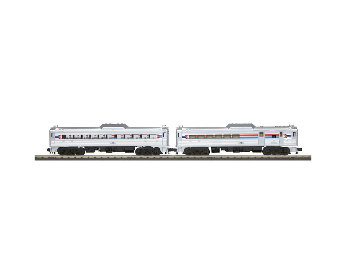 MTH Trains O-27 RDC Budd Car Set w/PS3, Amtrak #1