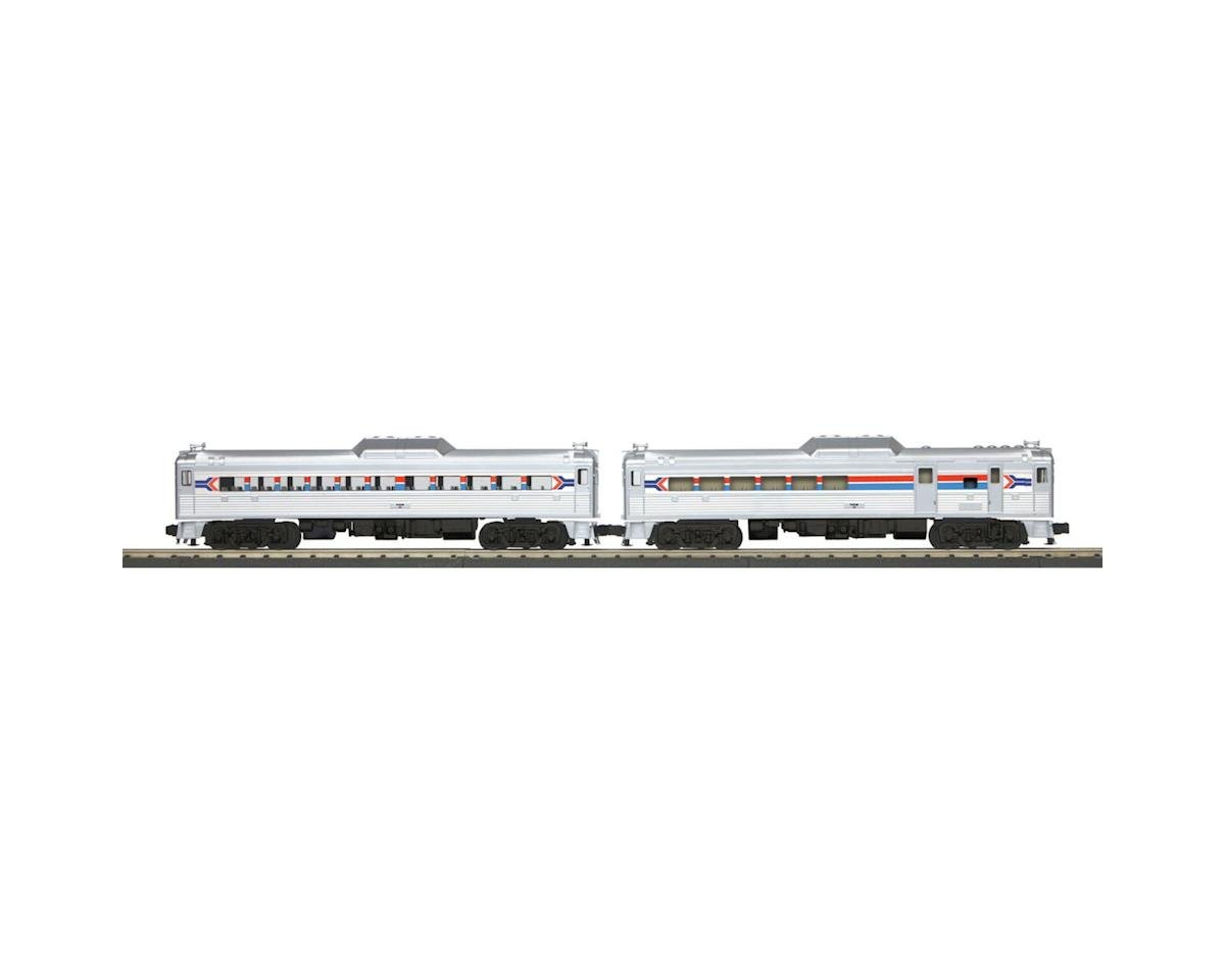 MTH Trains O-27 RDC Budd Car Set w/PS3, Amtrak #1