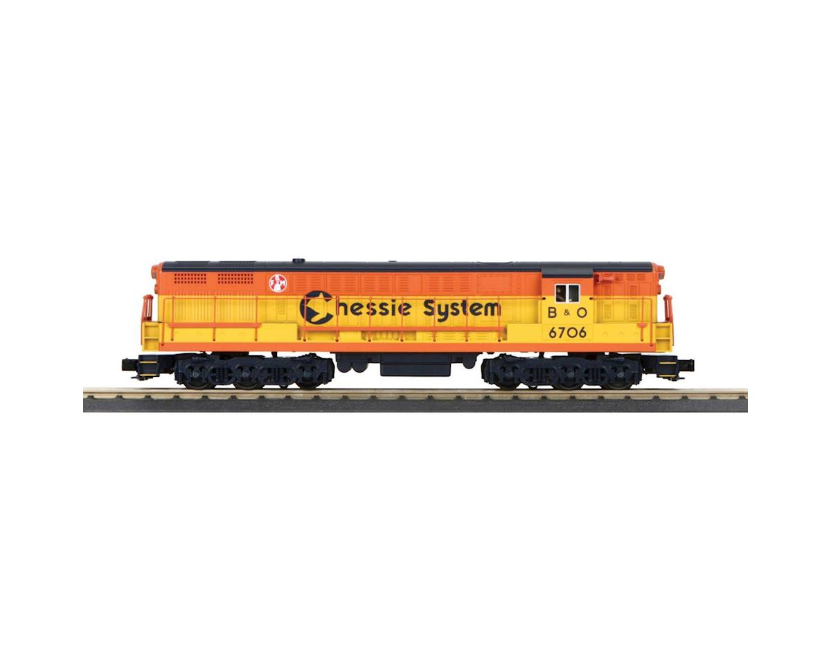 MTH Trains O-27 FM Train Master w/PS3, Chessie #6706