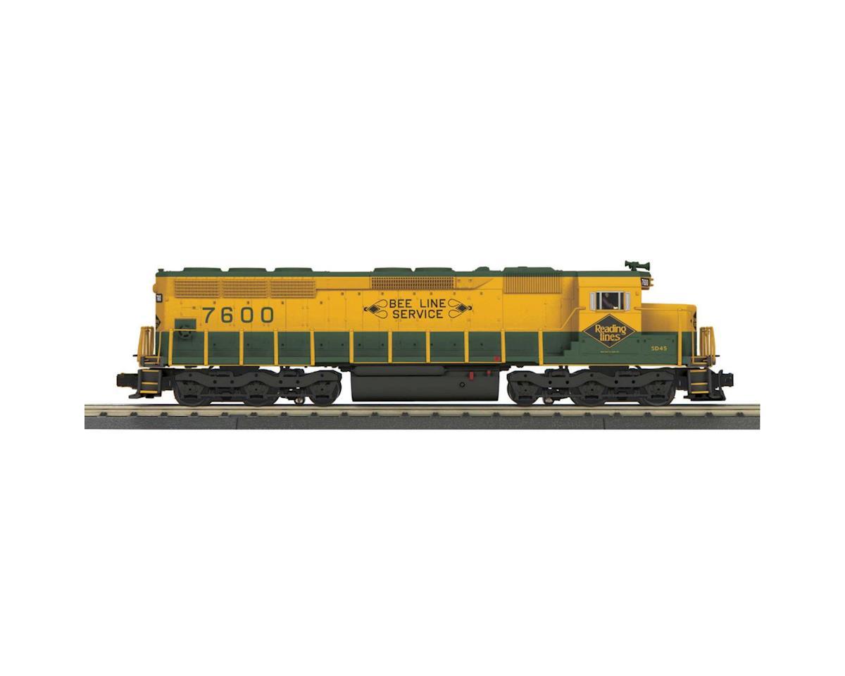 MTH Trains O-27 SD45 w/PS3, RDG #7600