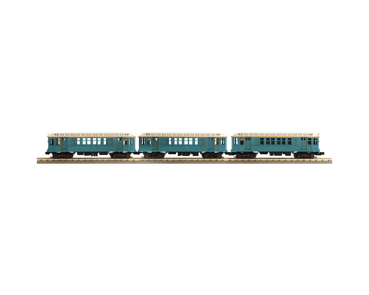 MTH Trains O-27 Q Type Subway w/PS3, MTA/Blue (3)