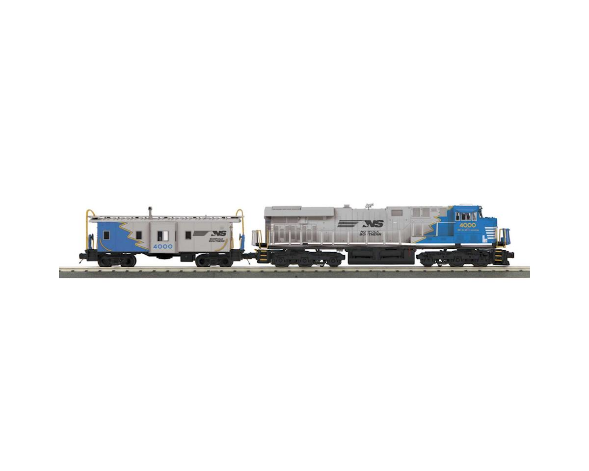 MTH Trains O-27 Imperial ES44AC & Caboose w/PS3, NS/Blue