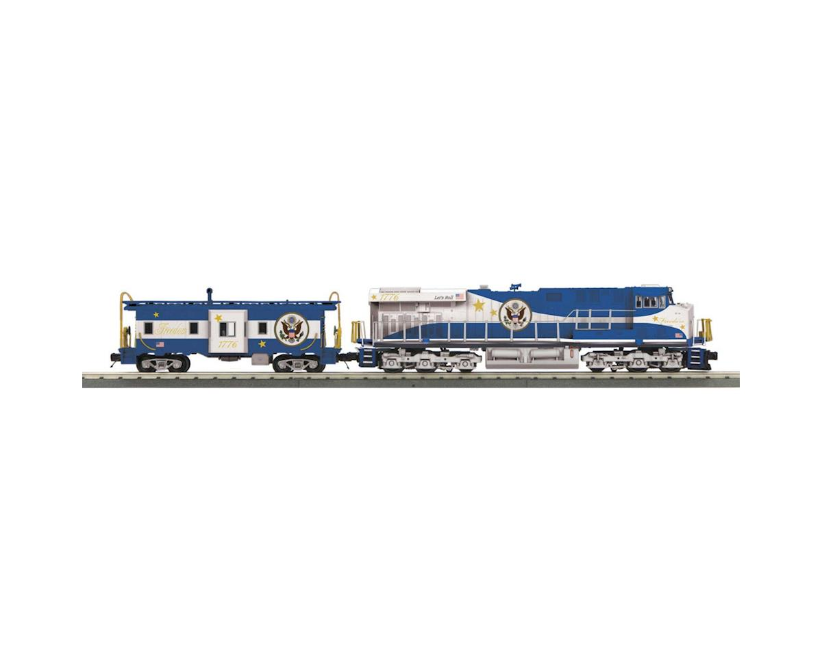 MTH Trains O-27 Imperial ES44AC & Caboose w/PS3, Freedom
