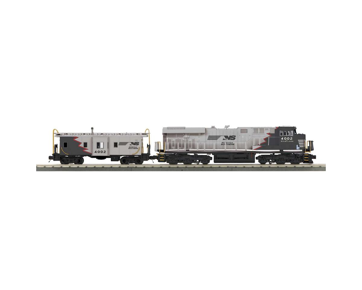 MTH Trains O-27 Imperial ES44AC & Caboose w/PS3, NS/Black