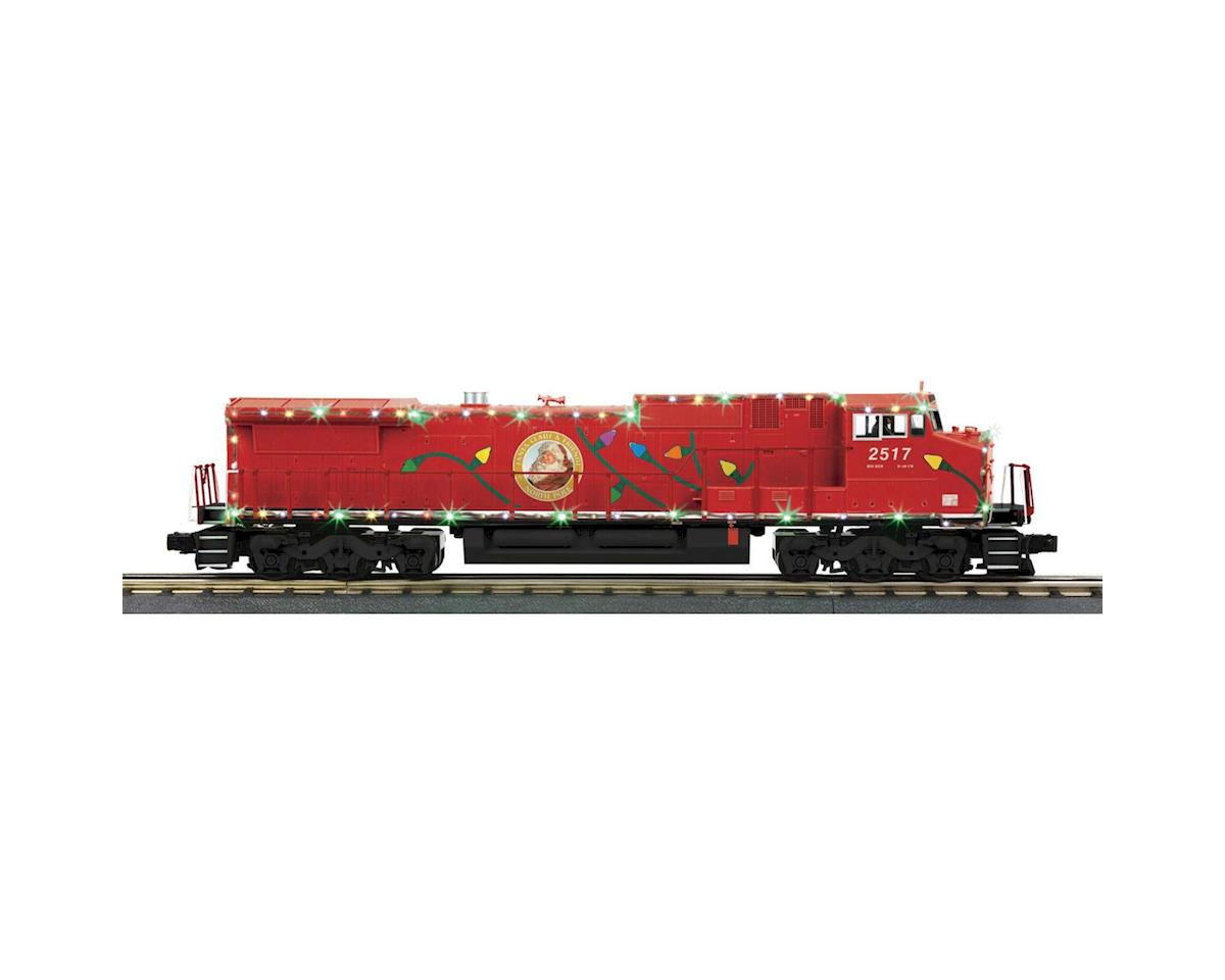 MTH Trains O-27 Dash-8 w/PS3 & LED Lights, Christmas
