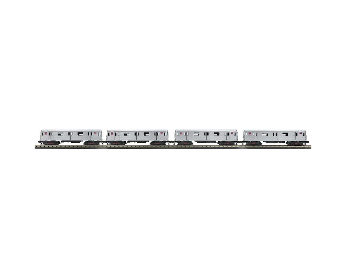 MTH Trains O-27 R62 Subway w/PS3, MTA #1650 (4)