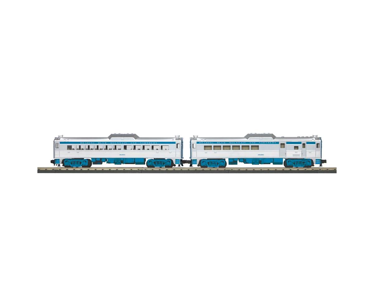 MTH Trains O-27 RDC Budd Car Set w/PS3, RNRX #9166