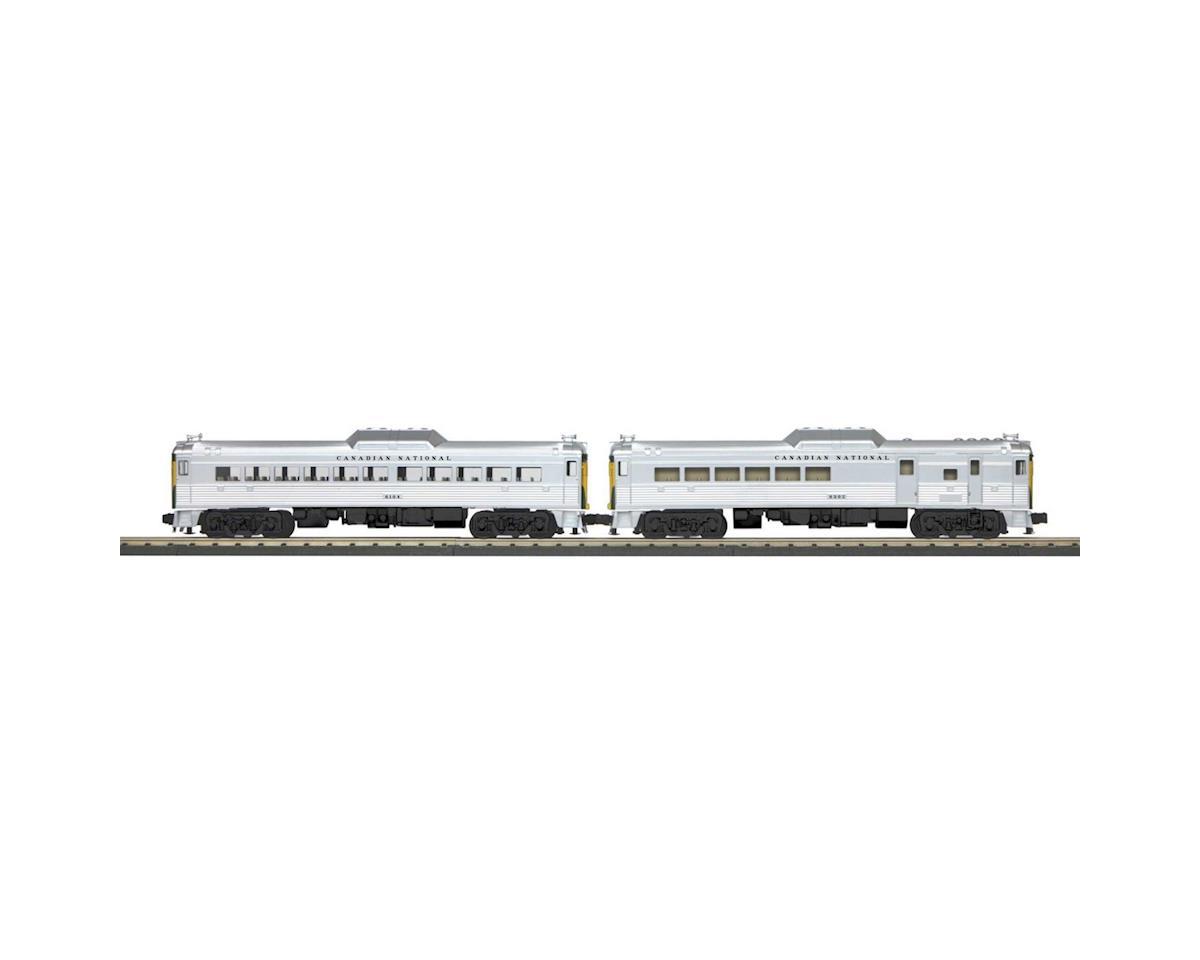 MTH Trains O-27 RDC Budd Car Set w/PS3, CN #6302