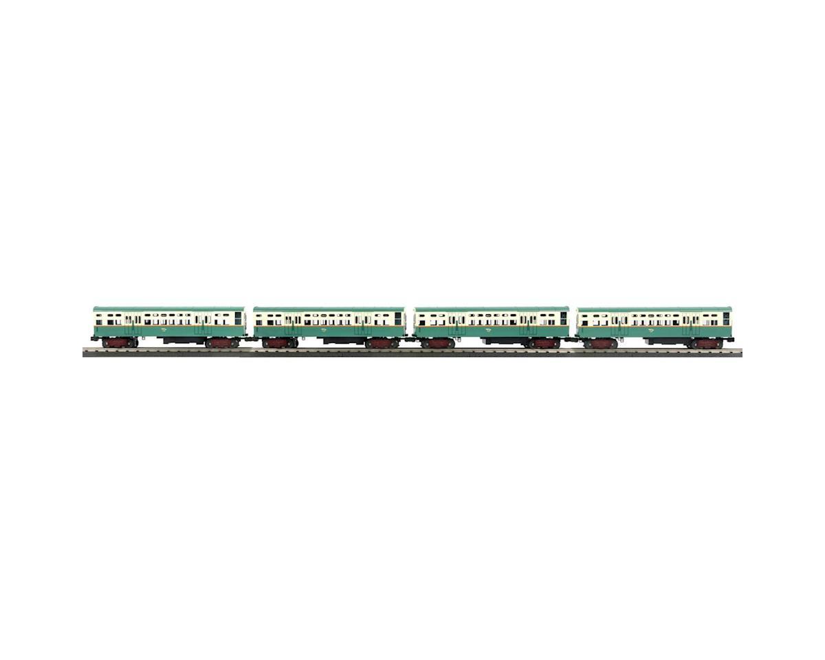 MTH Trains O-27 6000-Series L w/PS3,CTA.Green,Orange,Cream(4)