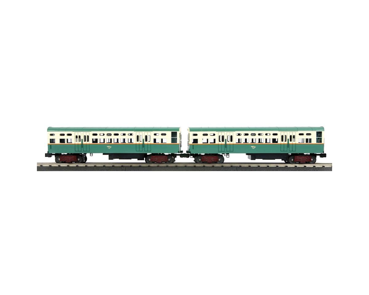 MTH Trains O-27 6000-Series L Dummy,CTA/Green,Orange Cream(2)