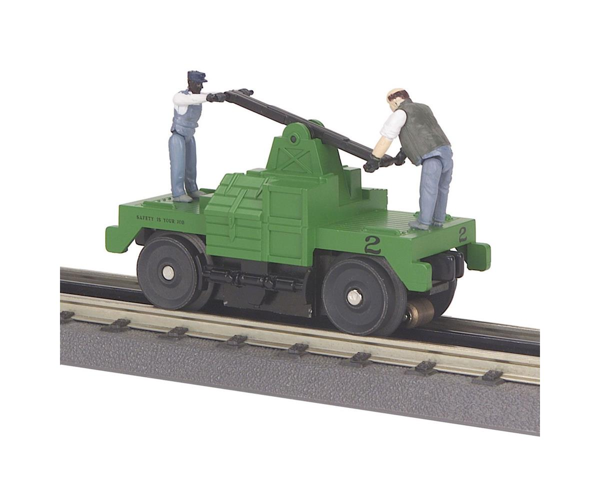 MTH Trains O-27 Operating Hand Car, Green Base