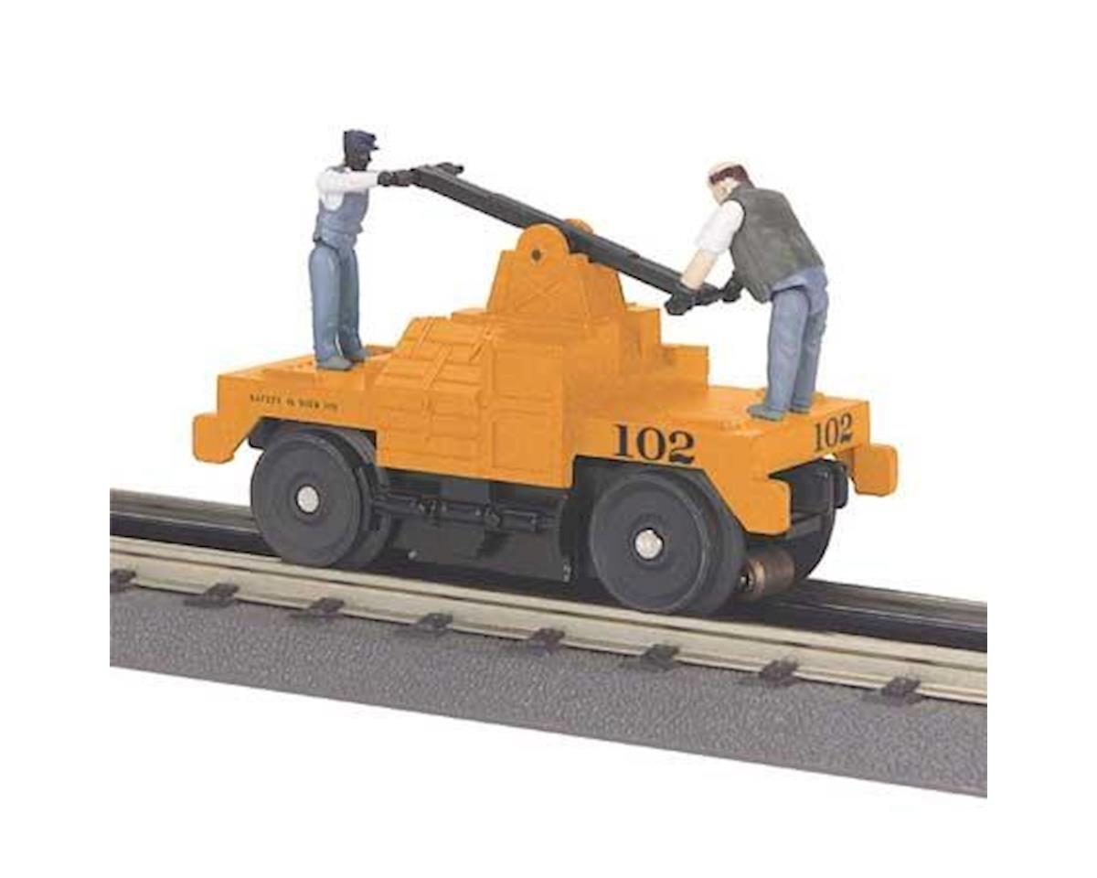 MTH Trains O-27 Operating Hand Car, MOW/Orange