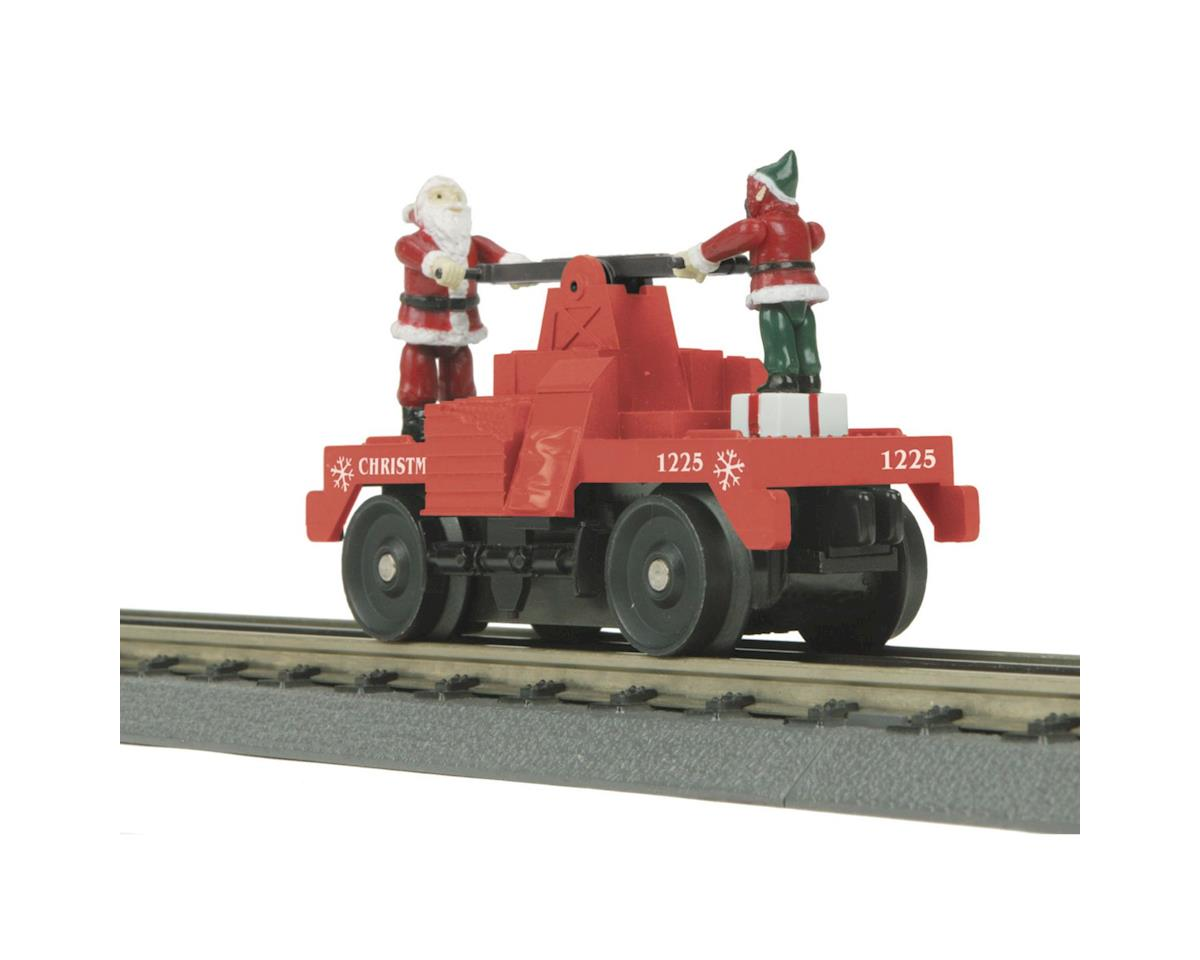MTH Trains O-27 Operating Hand Car, Christmas