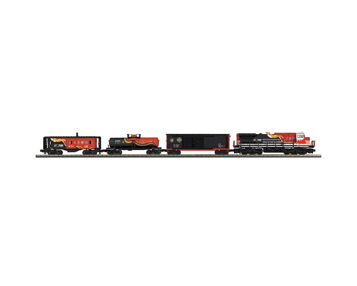 MTH Trains O-27 Dash-8 Freight Set w/PS3, NS/First Responder